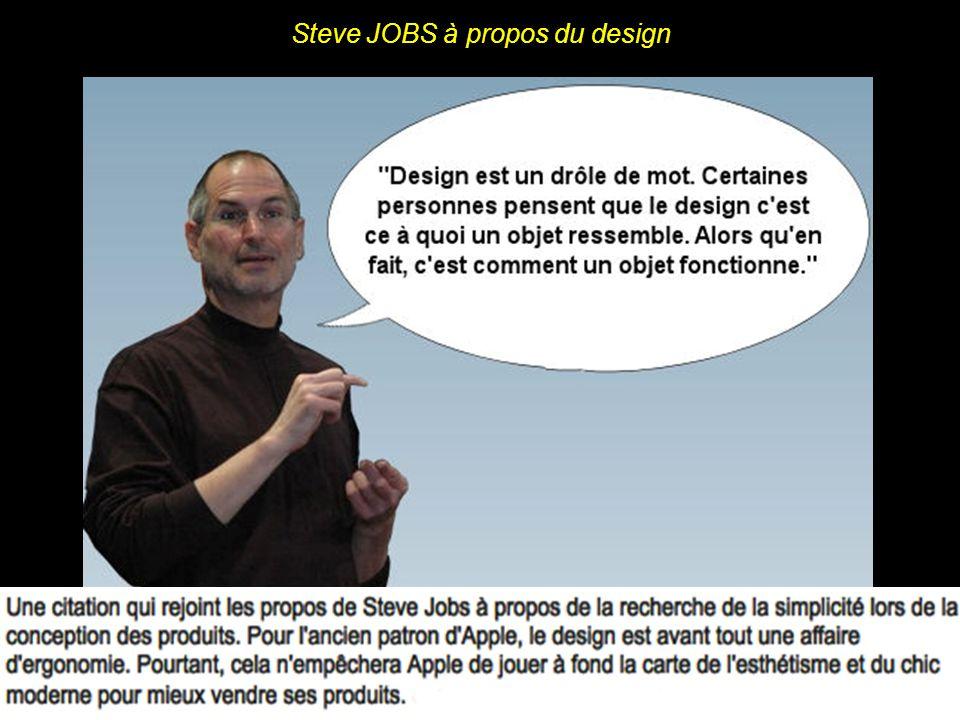 Steve JOBS expliquant sa façon de concevoir les produits