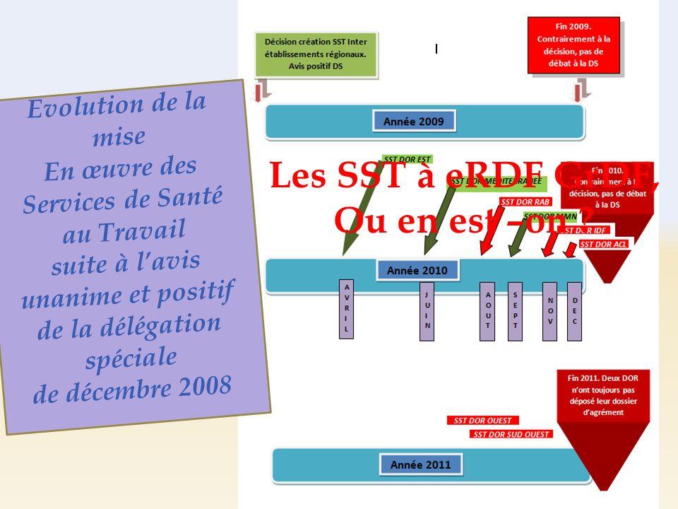 Evolution de la mise En œuvre des Services de Santé au Travail suite à lavis unanime et positif de la délégation spéciale de décembre 2008 Les SST à e