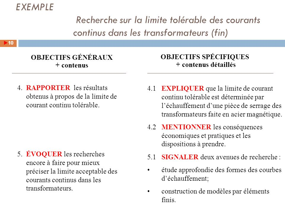 4.RAPPORTER les résultats obtenus à propos de la limite de courant continu tolérable.