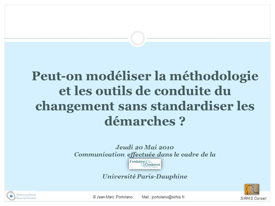 SIRHIS Conseil © Jean-Marc Portolano.Mail : portolano@sirhis.fr 1.
