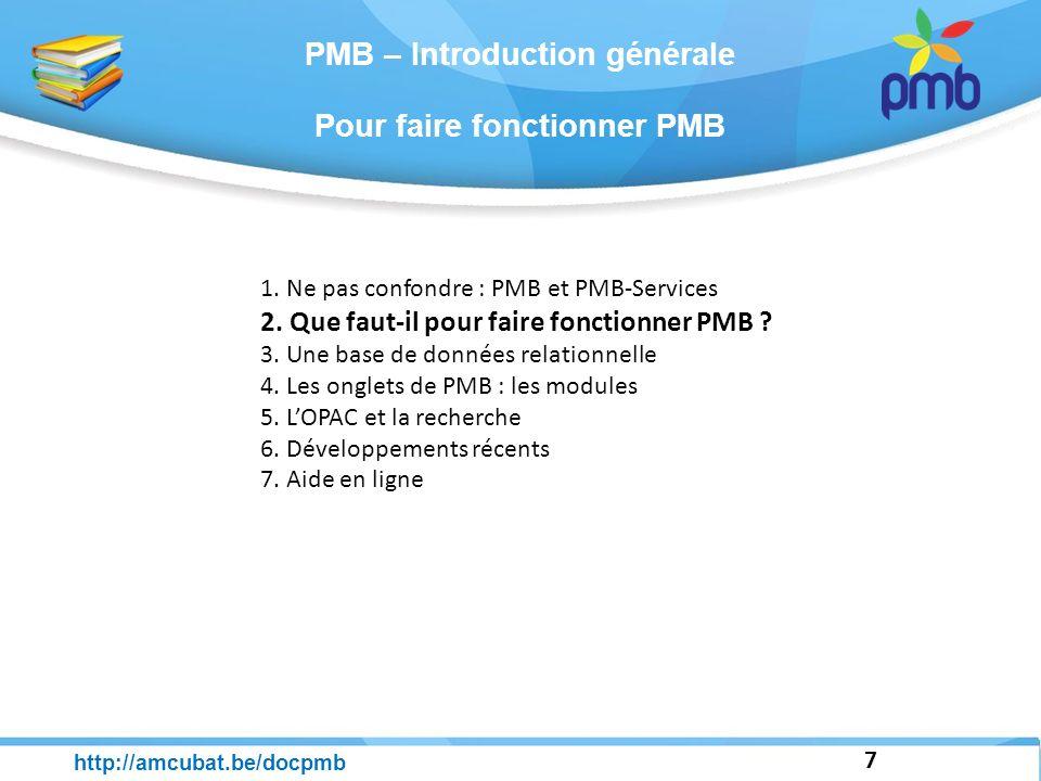 PMB – Introduction générale 38 http://amcubat.be/docpmb 1.