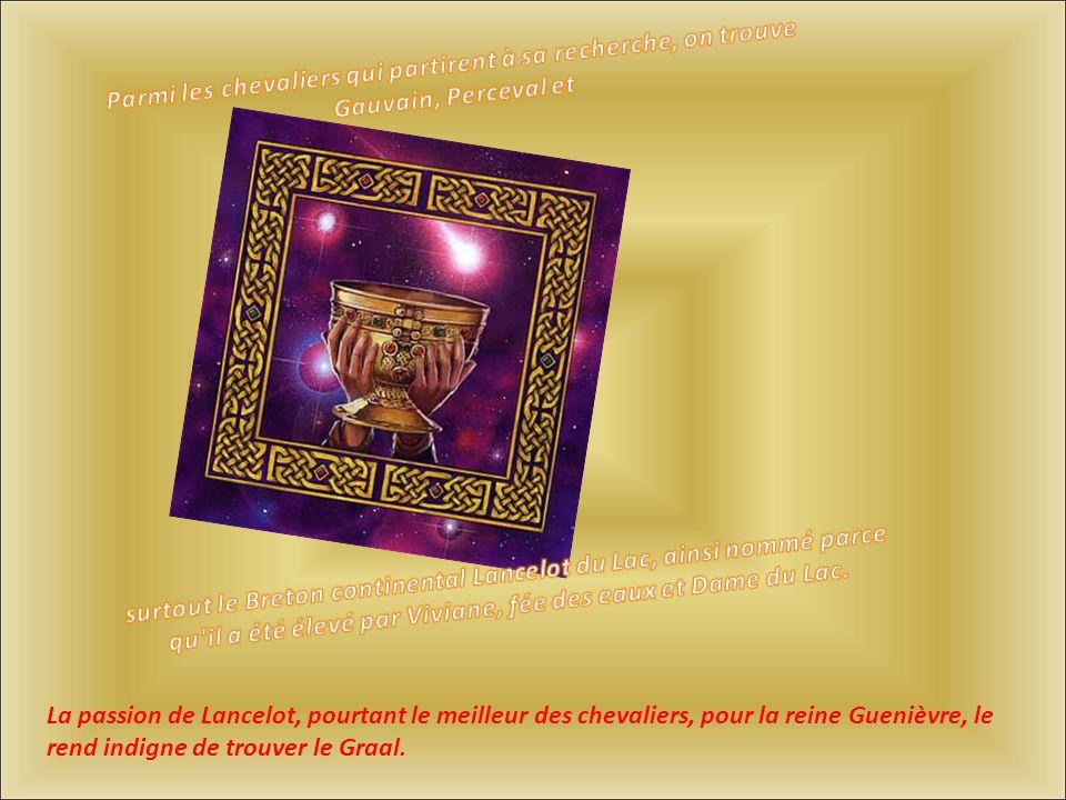 La passion de Lancelot, pourtant le meilleur des chevaliers, pour la reine Guenièvre, le rend indigne de trouver le Graal.