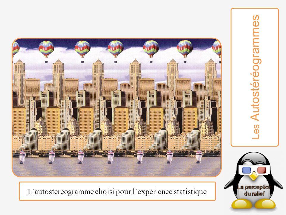 Lautostéréogramme choisi pour lexpérience statistique Les Autostéréogrammes