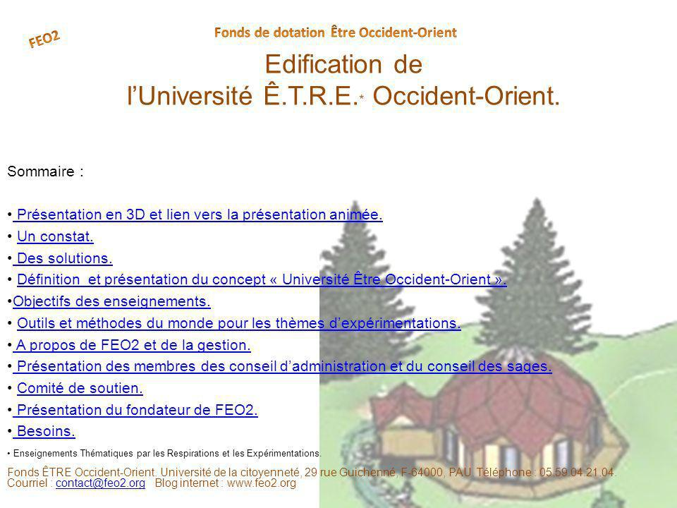 Edification de lUniversité Ê.T.R.E. * Occident-Orient.