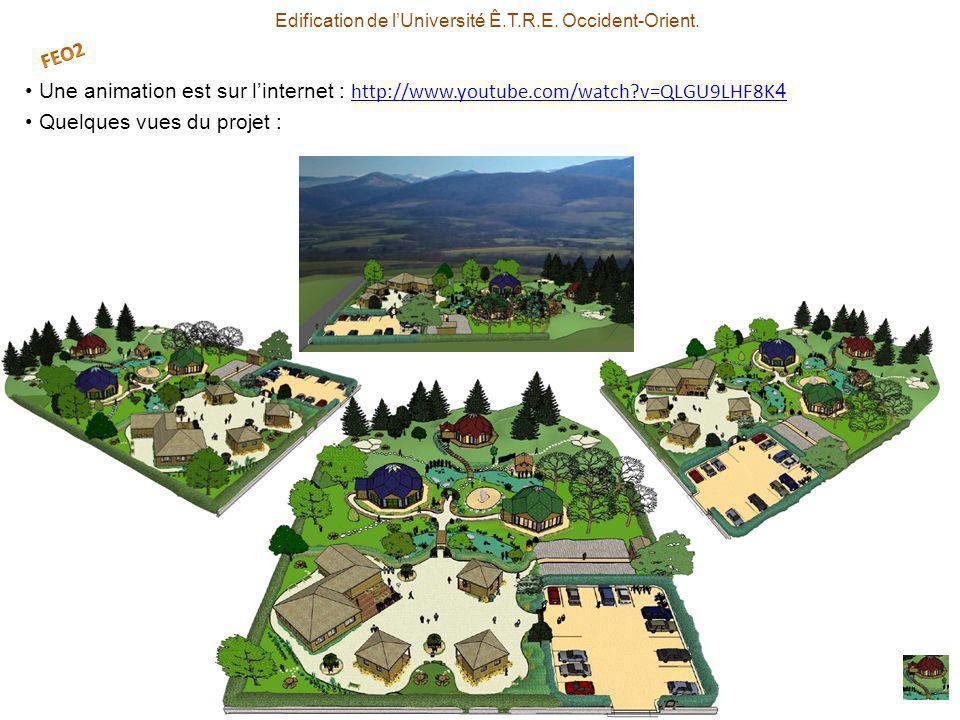 Une animation est sur linternet : http://www.youtube.com/watch?v=QLGU9LHF8K 4 http://www.youtube.com/watch?v=QLGU9LHF8K 4 Quelques vues du projet : Edification de lUniversité Ê.T.R.E.