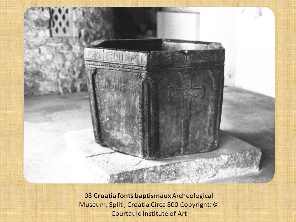 08 Croatia fonts baptismaux Archeological Museum, Split, Croatia Circa 800 Copyright: © Courtauld Institute of Art