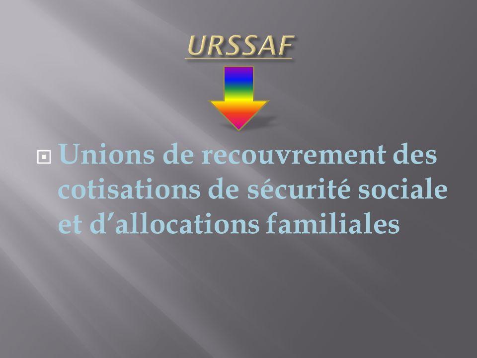 Unions de recouvrement des cotisations de sécurité sociale et dallocations familiales