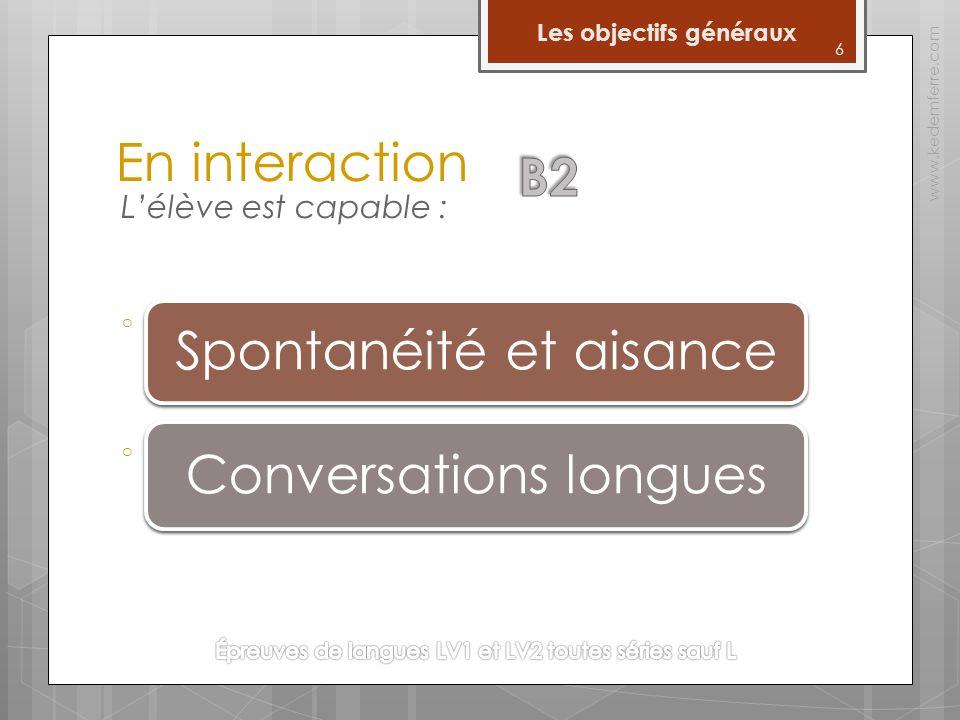 17 Les épreuves www.kedemferre.com Lécrit *La compréhension et lexpression écrites sont évaluées au cours de la même épreuve.