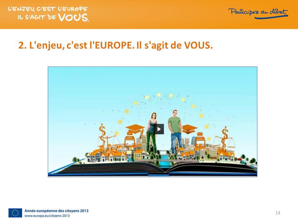 2. L'enjeu, c'est l'EUROPE. Il s'agit de VOUS. 14