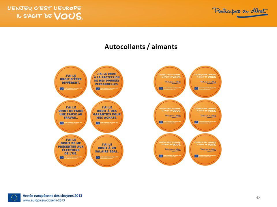 Autocollants / aimants 48