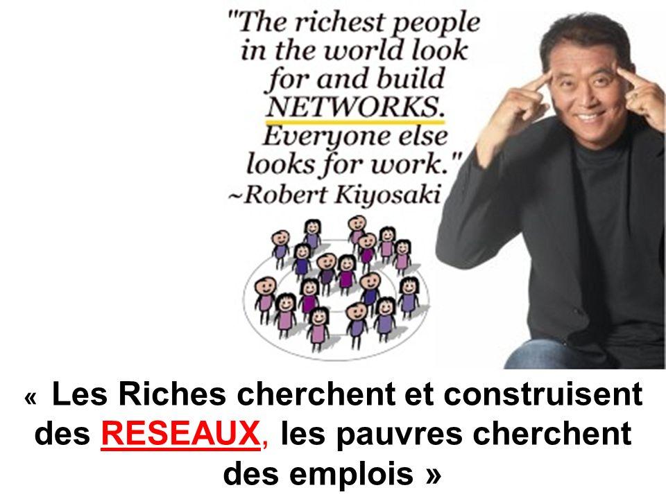 « Les Riches cherchent et construisent des RESEAUX, les pauvres cherchent des emplois »