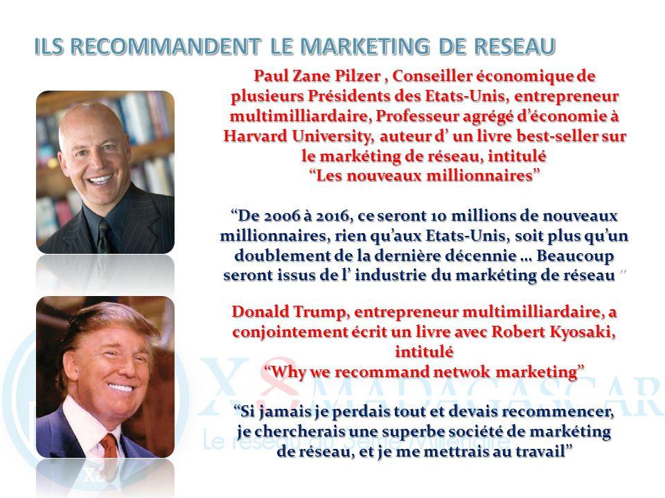 Paul Zane Pilzer, Conseiller économique de plusieurs Présidents des Etats-Unis, entrepreneur multimilliardaire, Professeur agrégé déconomie à Harvard