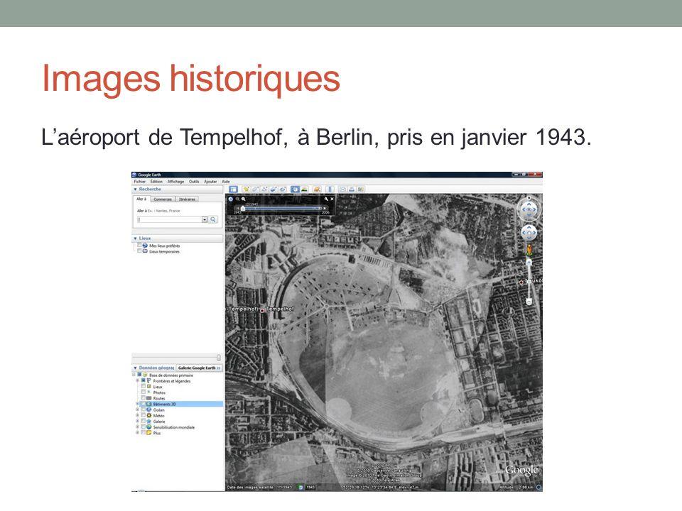 Images historiques Laéroport de Tempelhof, à Berlin, pris en janvier 1943.