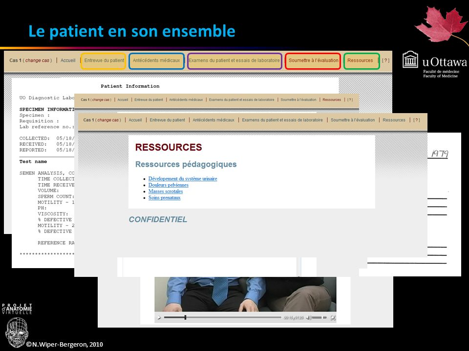 ©N.Wiper-Bergeron, 2010 Le patient en son ensemble – la rétroaction