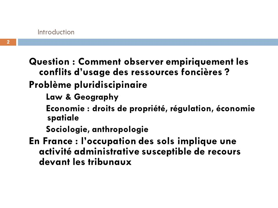 Main results ANOVA : test the impact of socioeconomic factors on i) i) occurrence or not of at least one conflict ii) which kind of conflict (zoning & urban planning, industry, infrastructure...) Factors : « Rythm of Urbanisation » and « index of high income & educated population » impact most of conflict occurrence Conflicts on public interest infrastructures are the most sensitive to the socioeconomic context (at the municipal level) 33 Ile-de-France : localisation, types de conflits, variables socioéconomique et sociodémographiques