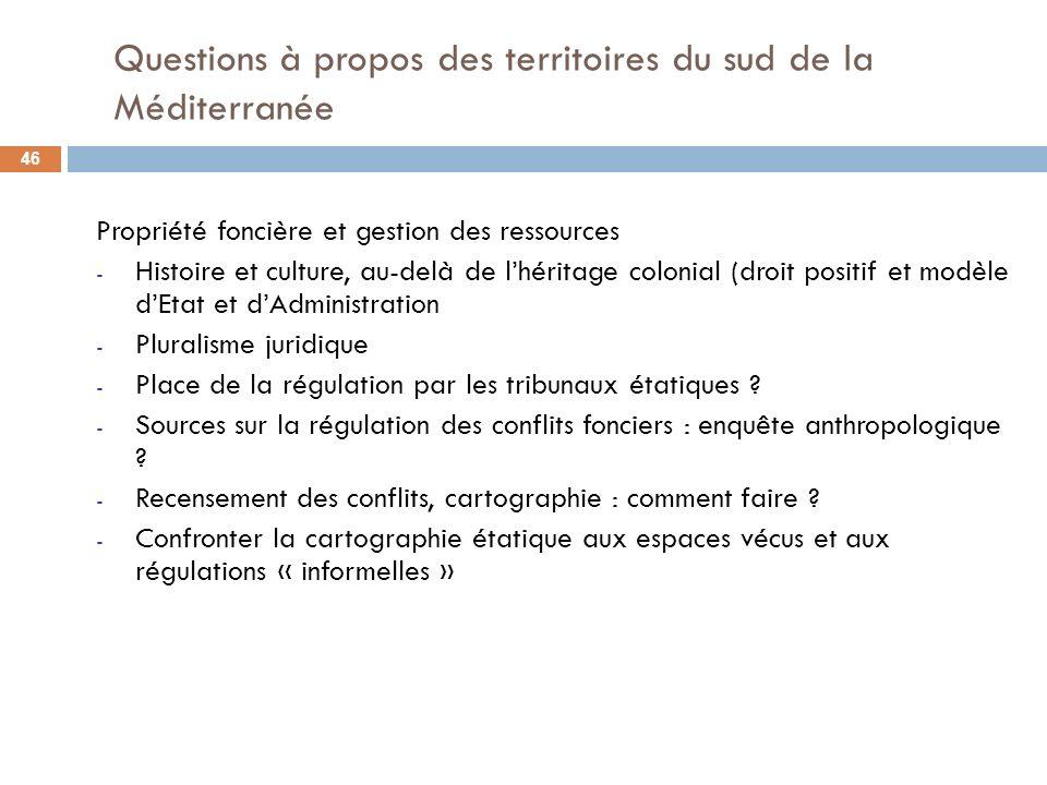 Propriété foncière et gestion des ressources - Histoire et culture, au-delà de lhéritage colonial (droit positif et modèle dEtat et dAdministration -