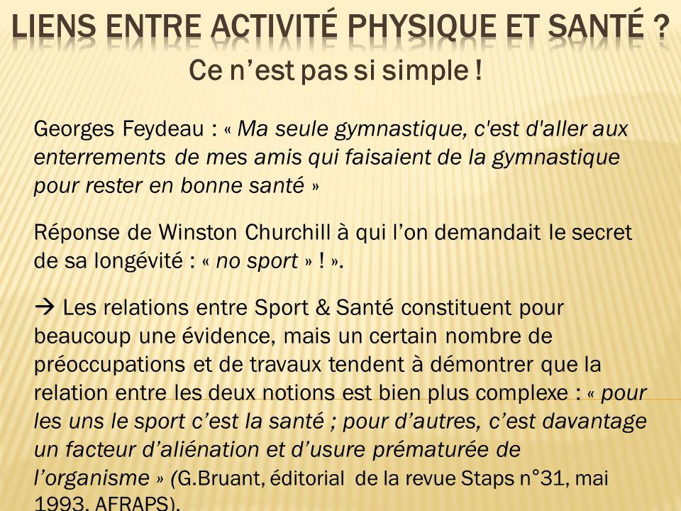 Georges Feydeau : « Ma seule gymnastique, c'est d'aller aux enterrements de mes amis qui faisaient de la gymnastique pour rester en bonne santé » Répo