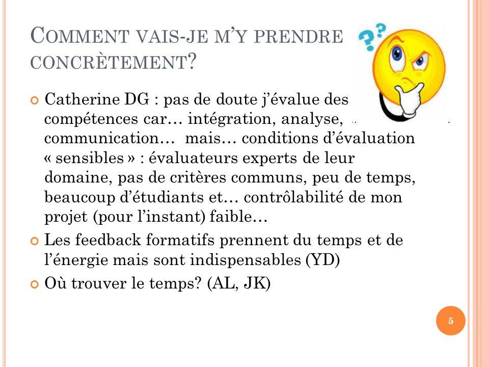 C OMMENT VAIS - JE M Y PRENDRE CONCRÈTEMENT .
