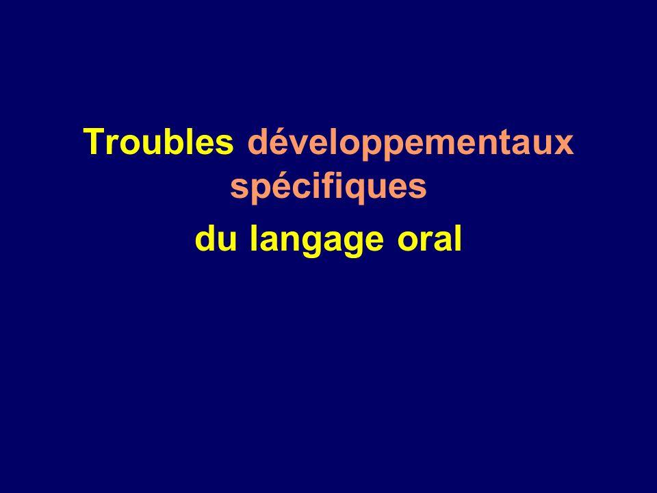 Troubles développementaux spécifiques du langage oral
