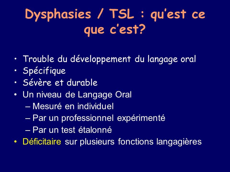 Dysphasies / TSL : quest ce que cest.
