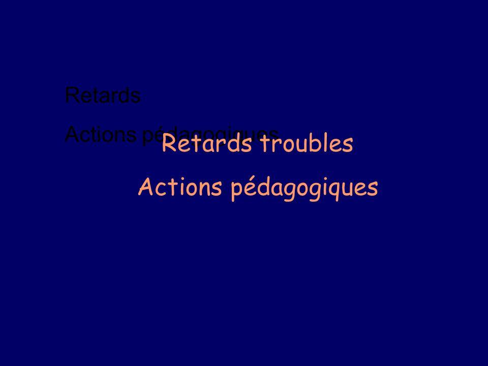 Retards Actions pédagogiques Retards troubles Actions pédagogiques