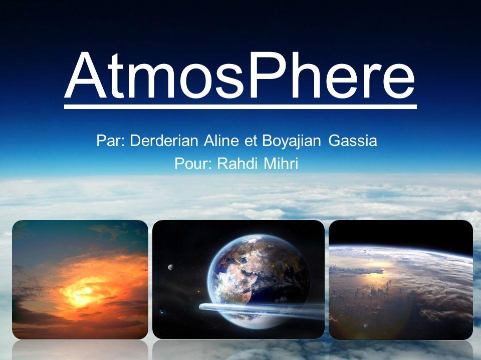 AtmosPhere Par: Derderian Aline et Boyajian Gassia Pour: Rahdi Mihri