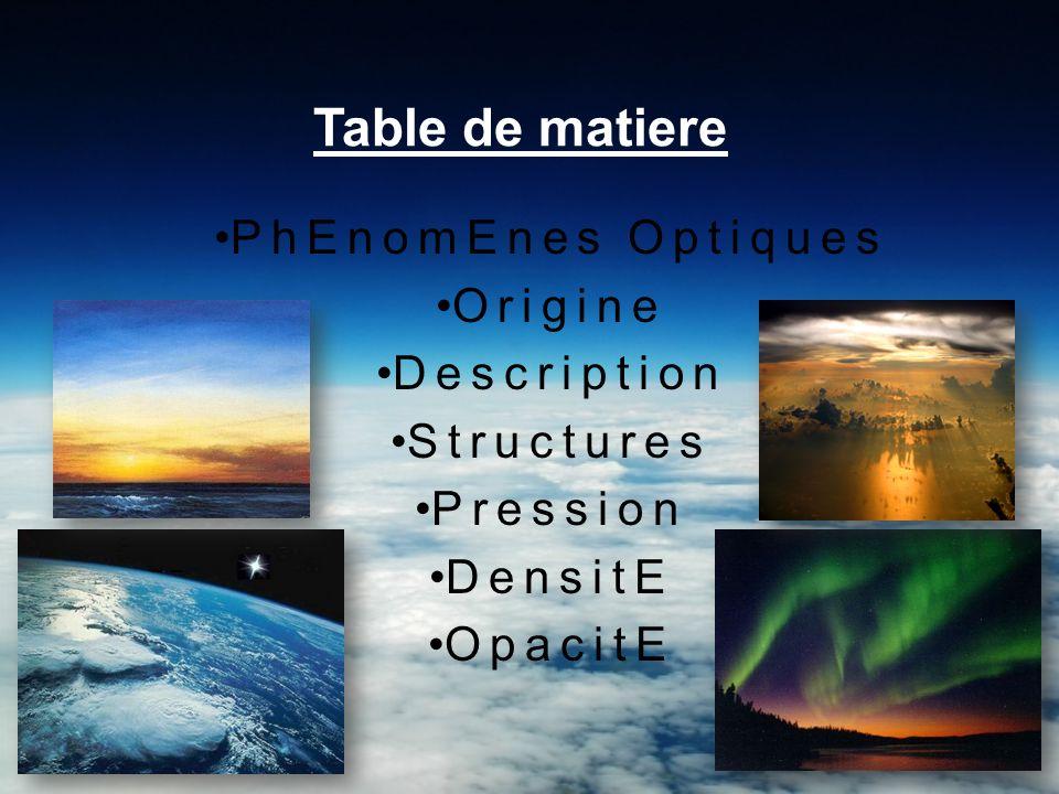 PhEnomEnes optiques La composition de l atmosphère terrestre la rend relativement transparente aux rayonnements électromagnétiques dans le domaine du spectre visible.