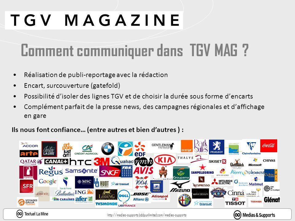 Comment communiquer dans TGV MAG .