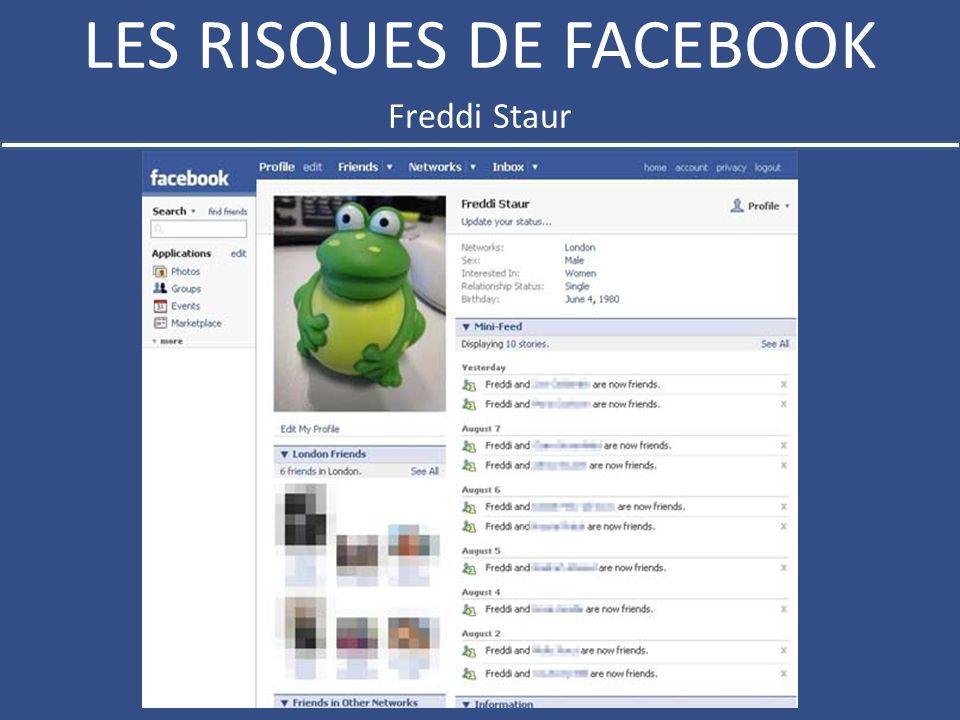 LES RISQUES DE FACEBOOK Freddi Staur