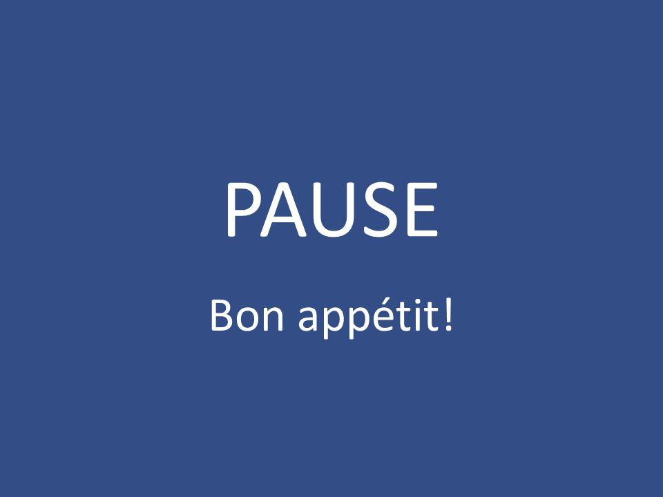 PAUSE Bon appétit!