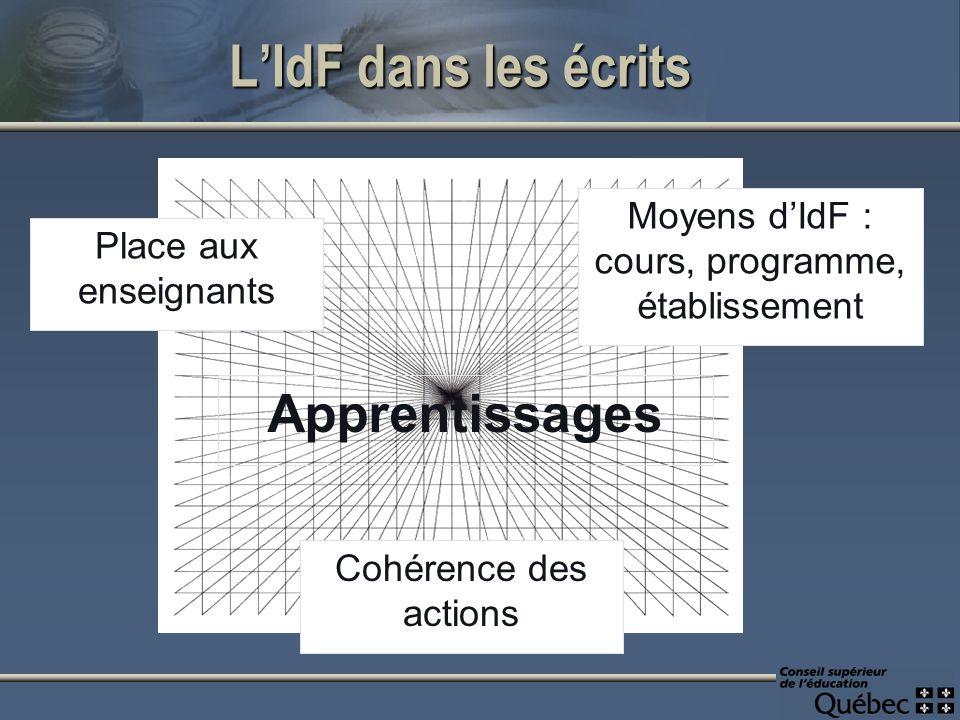 LIdF dans le discours collégial : Les séjours de mobilité Pertinence de la formation