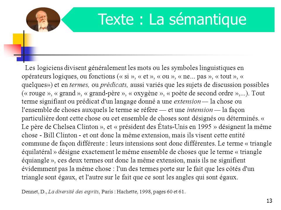 Les langues naturelles Les mots sont les plus petites unités signifiantes dune langue.