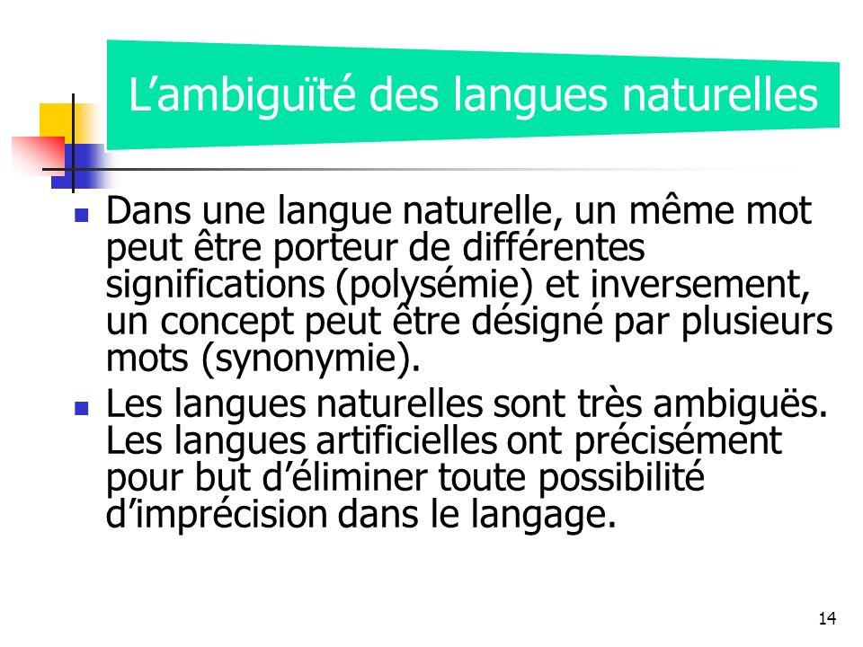 Texte : La sémantique Les logiciens divisent généralement les mots ou les symboles linguistiques en opérateurs logiques, ou fonctions (« si », « et », « ou », « ne...