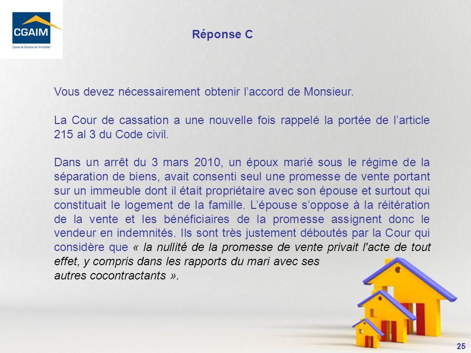 26 11- La loi Hoguet exige que les compromis de vente comportent une indemnité dimmobilisation de : A.