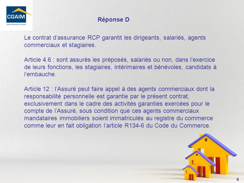 7 3- En labsence de mandat, le contrat RCP a til vocation à intervenir .