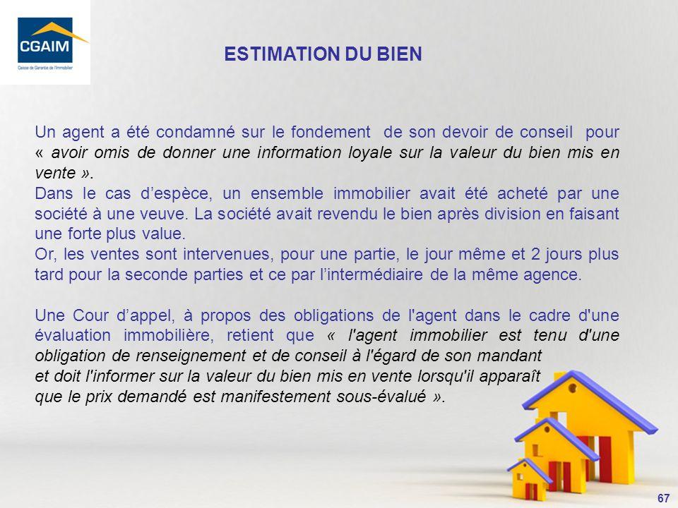 68 La « Loi Carrez » précise que dans le cadre de vente dun bien immobilier soumis au statut de la copropriété, le vendeur doit déclarer la superficie du lot à lacquéreur.