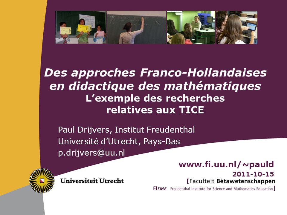 FRConcCultOrchNLInst Conclusion Les approches Françaises et Hollandaises en didactique des mathématiques … … sont bien différentes … sont bien complémentaires … sont puissantes à combiner