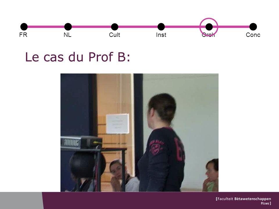Le cas du Prof B: FRConcCultOrchNLInst