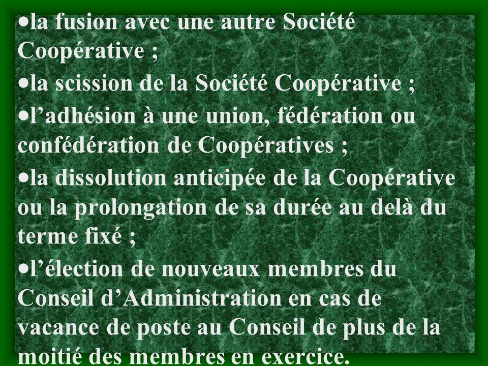 c-Assemblée Générale Extraordinaire : LAssemblée Générale Extraordinaire est convoquée à la demande du Président du Conseil dAdministration, du Comité