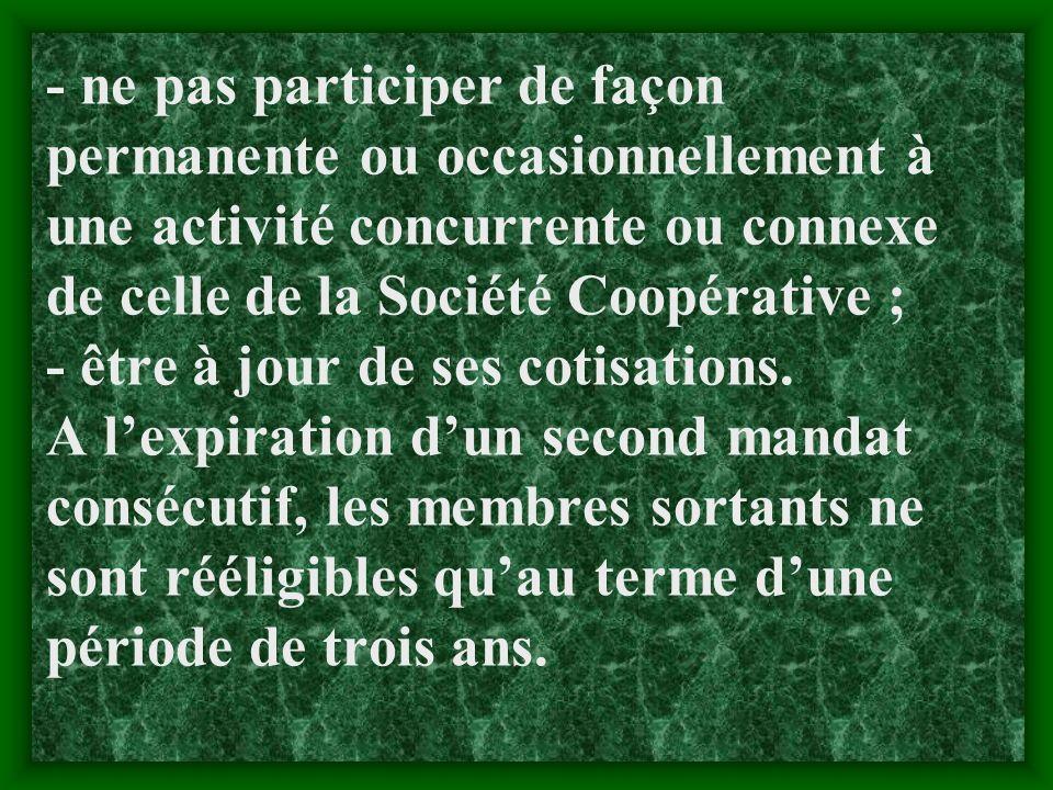 N B. Pour être membre, il faut remplir les conditions suivantes (cf. article 31): -être de nationalité malienne ; -jouir des droits civiques et civils