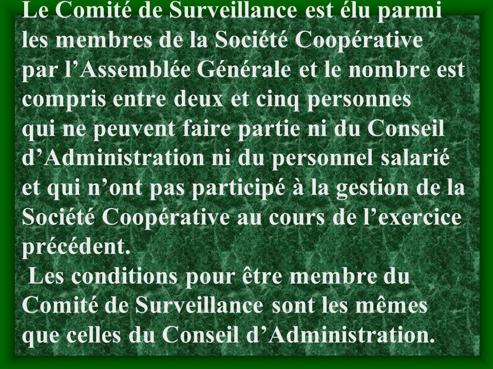 2.1.4Le Comité de Surveillance : a- Définition :Le Comité de Surveillance est lorgane de contrôle interne permanent de la Société Coopérative.