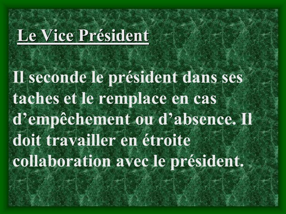 Le Président du Conseil dAdministration Il est le premier responsable de la gestion de la société coopérative. Il représente la société coopérative da