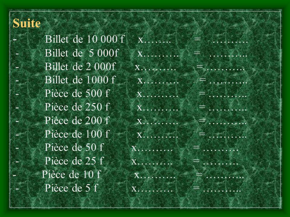 Suite Procès verbal de vérification de caisse. Lan deux mille ……………et le ………. du mois de …………. nous …………….. nous sommes présentés à la caisse de Mr ……