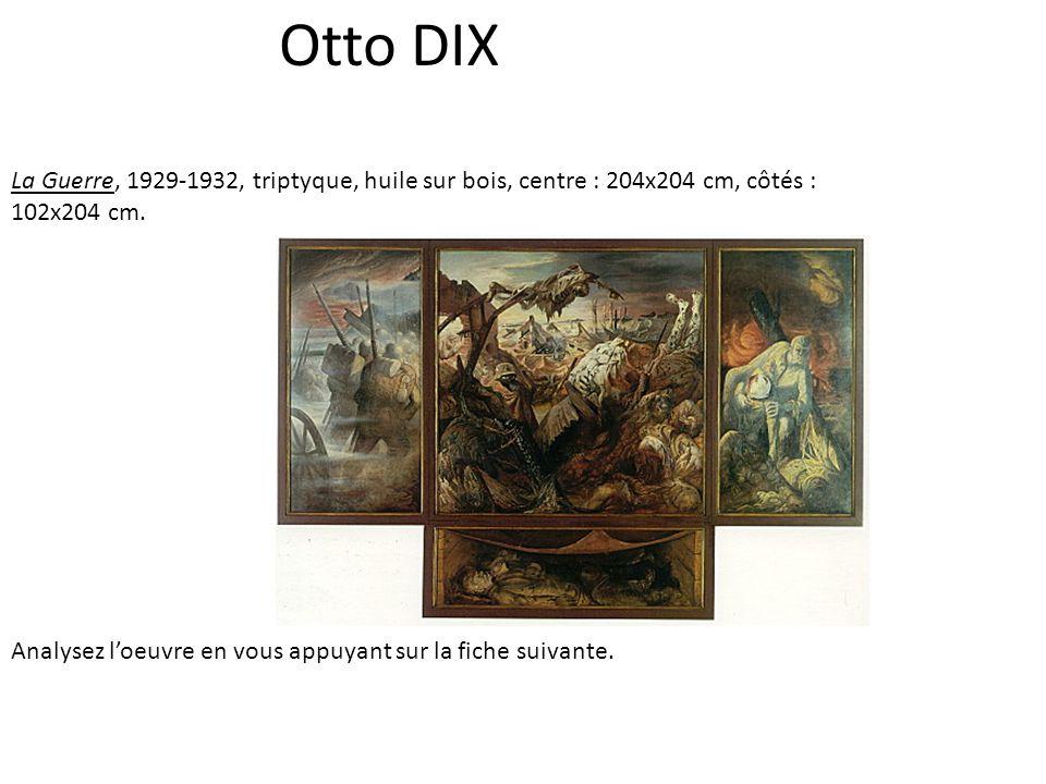 Otto DIX La Guerre, 1929-1932, triptyque, huile sur bois, centre : 204x204 cm, côtés : 102x204 cm.