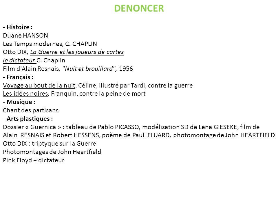 DENONCER - Histoire : Duane HANSON Les Temps modernes, C.