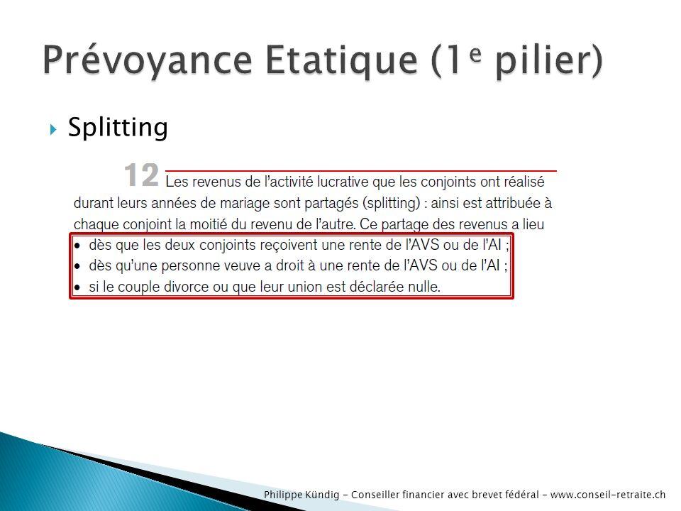 Splitting Philippe Kündig - Conseiller financier avec brevet fédéral - www.conseil-retraite.ch