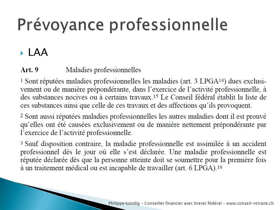 LAA Philippe Kündig - Conseiller financier avec brevet fédéral - www.conseil-retraite.ch