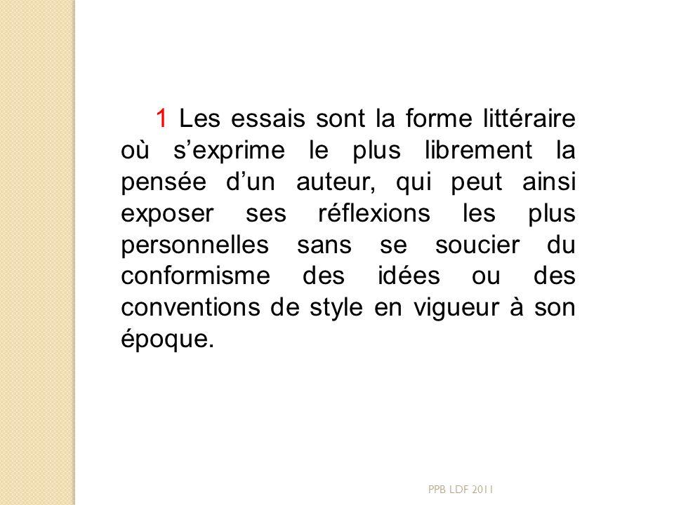LITTERAIRE si le texte est un exemple remarquable dun mouvement littéraire précis, dont il donne à voir les caractéristiques PPB LDF 2011