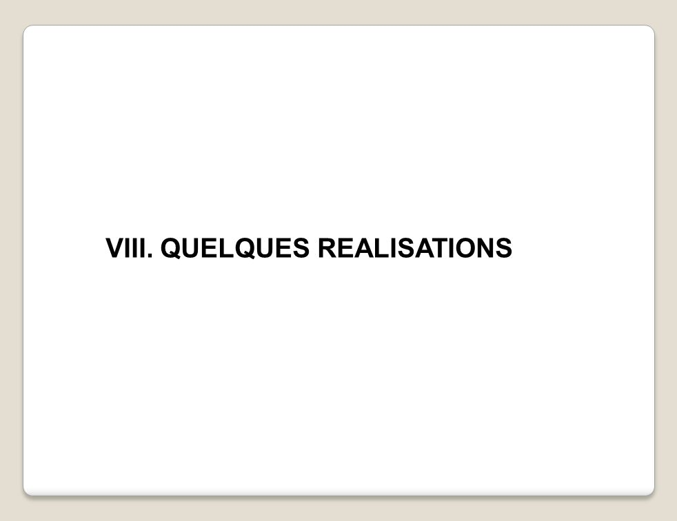 VIII. QUELQUES REALISATIONS