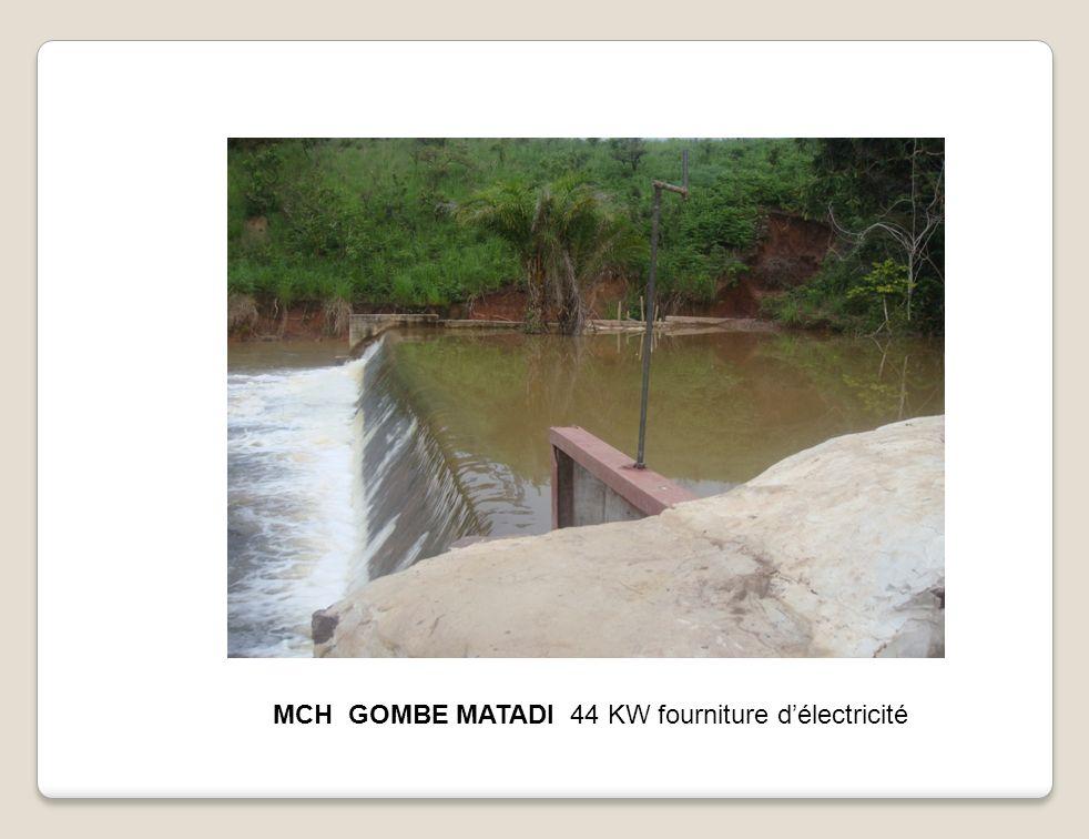 MCH GOMBE MATADI 44 KW fourniture délectricité